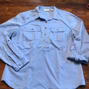 Blue stretch dress shirt from New York and Company